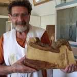 Cornish engine house carved in relief by woodcarving course student
