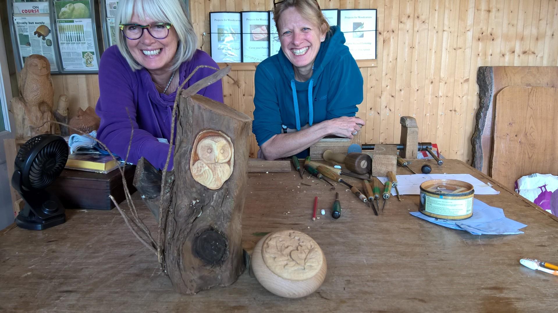 Zoe gertner woodcarving courses in devon home