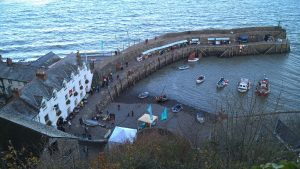 Clovelly fishing village is nearby