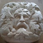 first carving of green man in lime wood