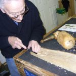 woodcarving gift voucher student carving a relief panel