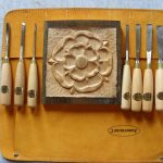 Tudor Rose carved using Zoe Gertner woodcarving gouges
