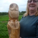 Lady with owl, her first woodcarving