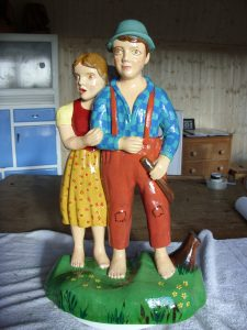 restored fairground figures